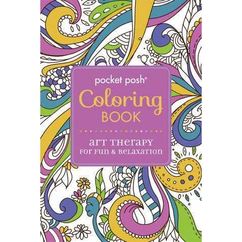 Pocket Posh Adult Coloring Book Art Therapy For Fun Relaxation By Michael OMara Books