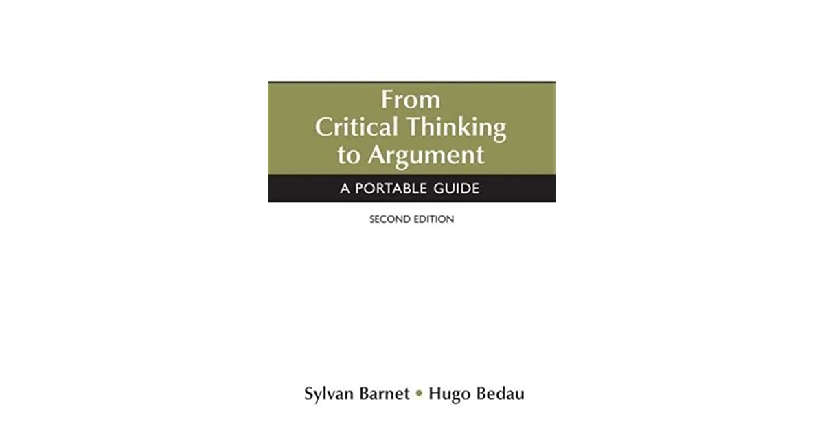 critical argument Isolating the nerve center of an argument arguments in real life can take a number of forms, but arguments on gmat critical reasoning questions are relatively formulaic.