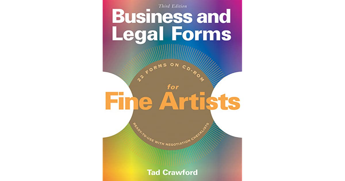 Business And Legal Forms For Fine Artists By Tad Crawford - Legal form books