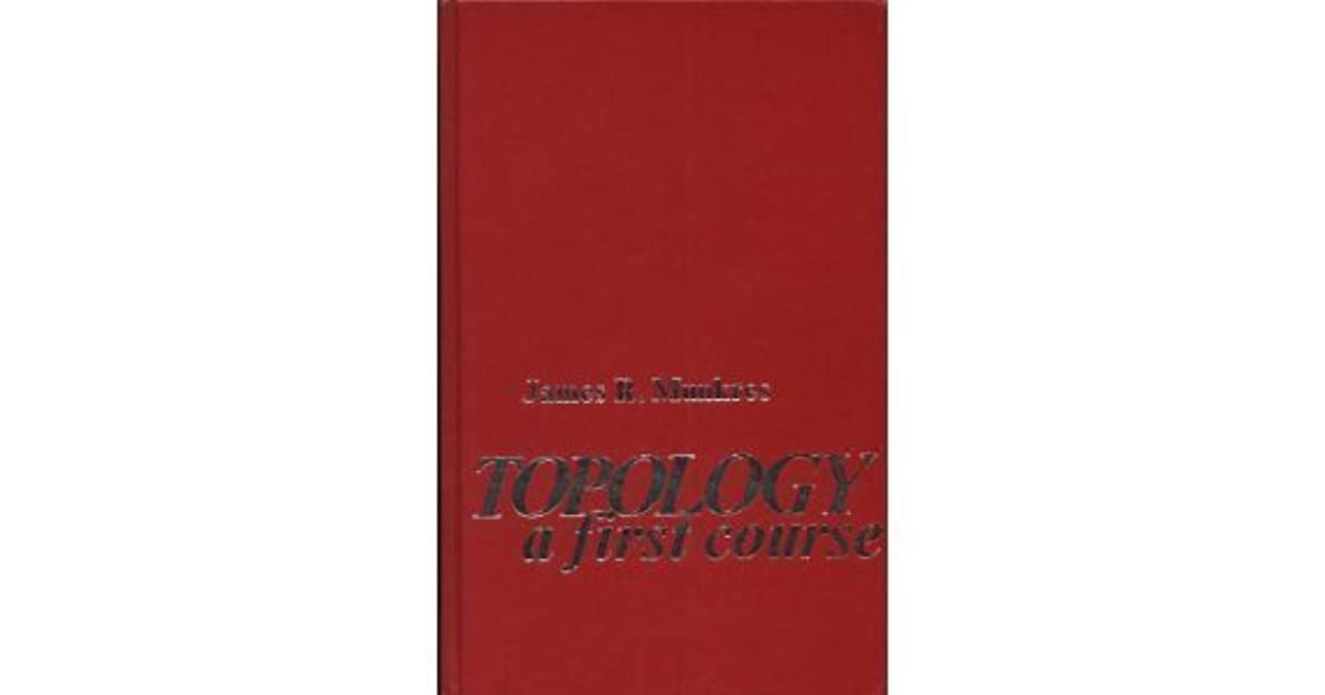Topology: A First Course by James R  Munkres