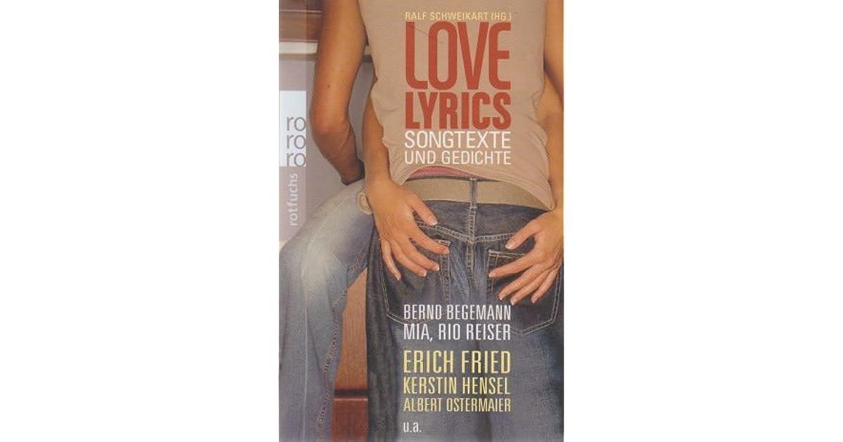 Love Lyrics Songtexte Und Gedichte By Ralf Schweikart