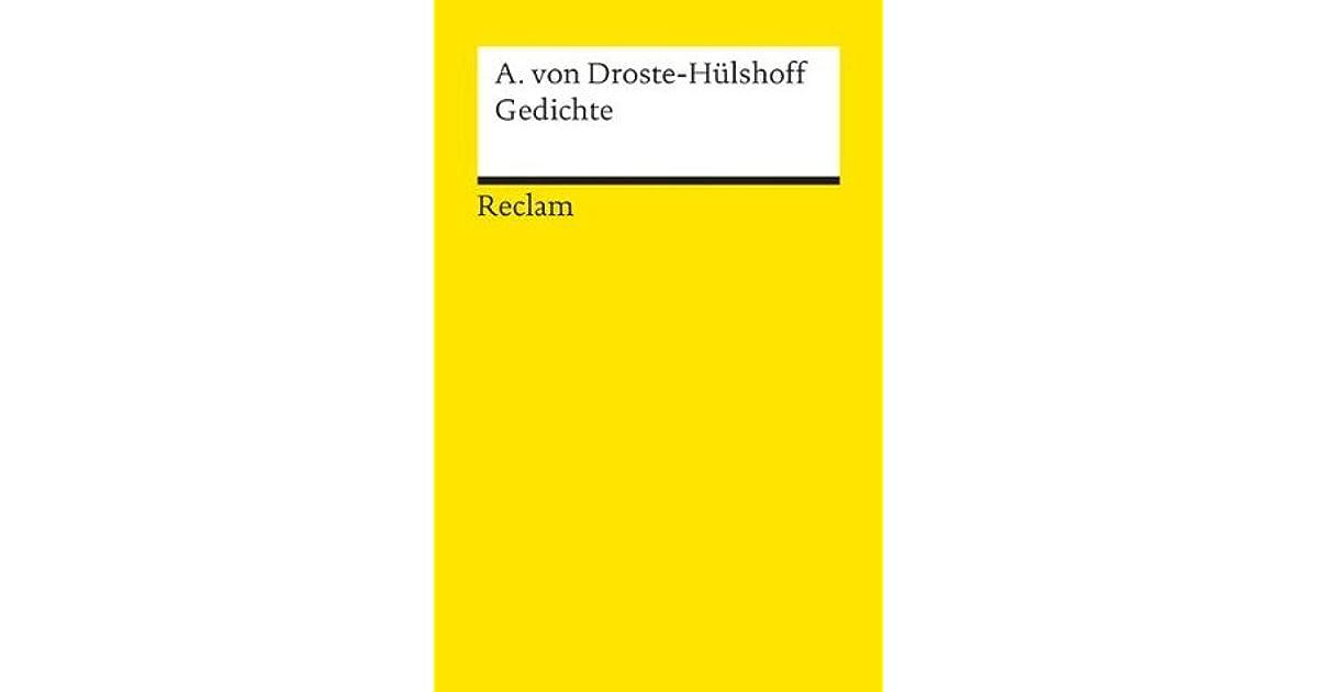 Annette Von Droste Hülshoff Gedichte By Annette Von Droste