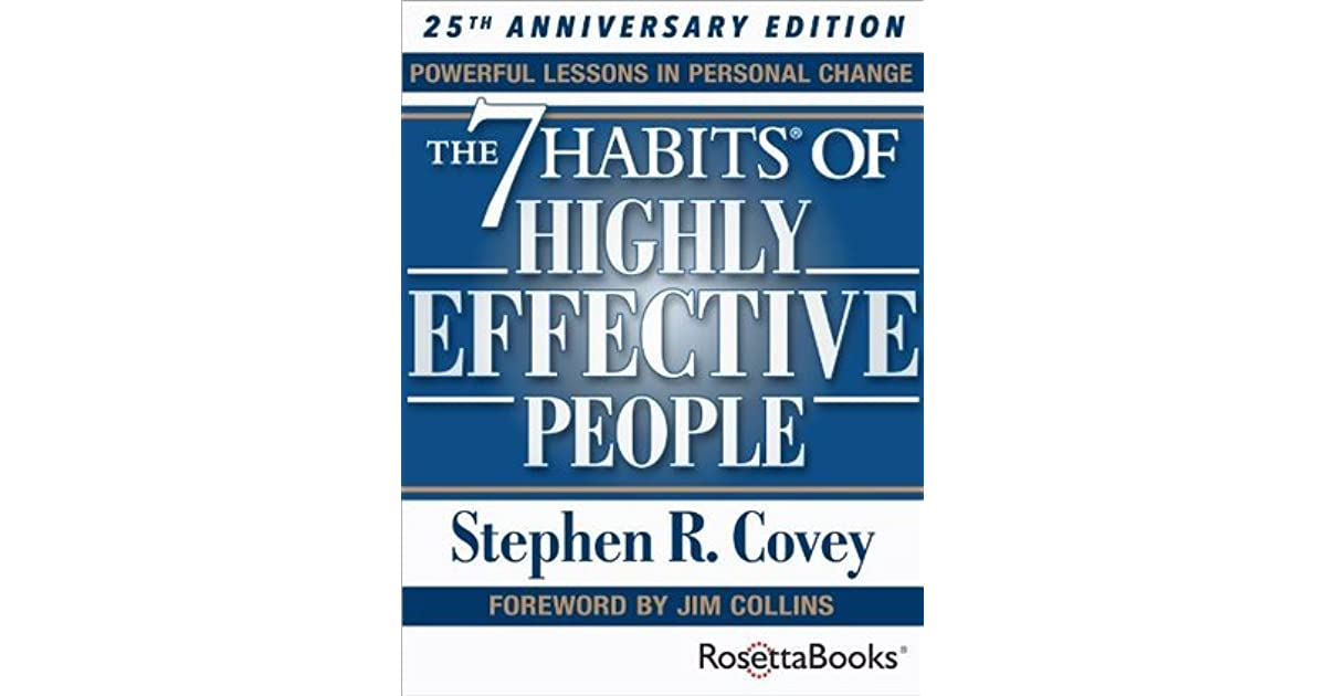 personal growth in the book the 7 habits of highly effective people by stephen r covey The 7 habits of highly effective people powerful lessons in personal change stephen r covey 20131119 about this book the 7 habits of highly effective people is based on an inside-out approach to becoming a more effective people.