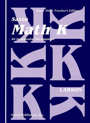Saxon Math K Home Study Teachers Manual First Edition