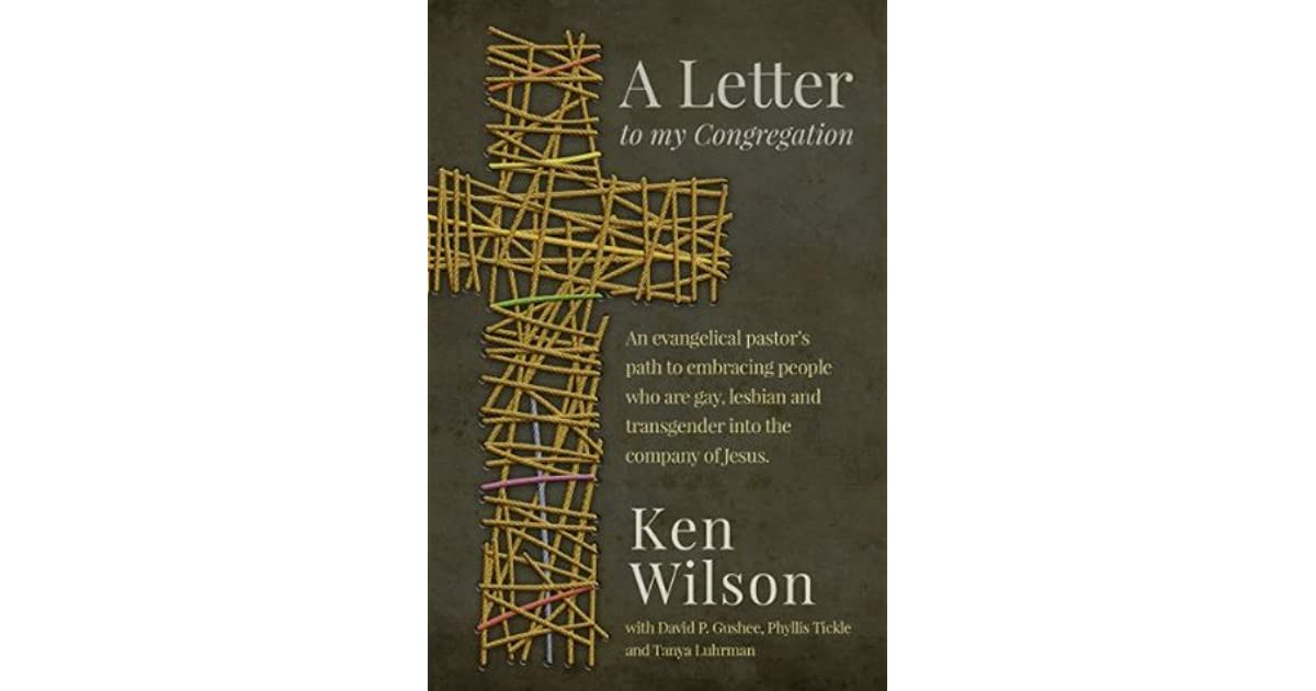 A Letter to My Congregation: An evangelical pastor's path ...