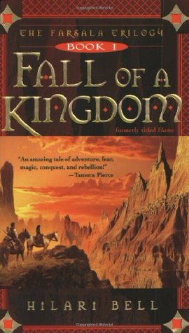 Jacket cover for the Fall of a Kingdom by Hilari Bell