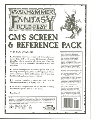 GM Screen and Reference Pack