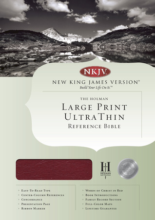 NKJV Large Print Ultrathin Reference Bible, Burgundy Genuine Leather Indexed