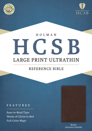 HCSB Large Print Ultrathin Reference Bible by Anonymous