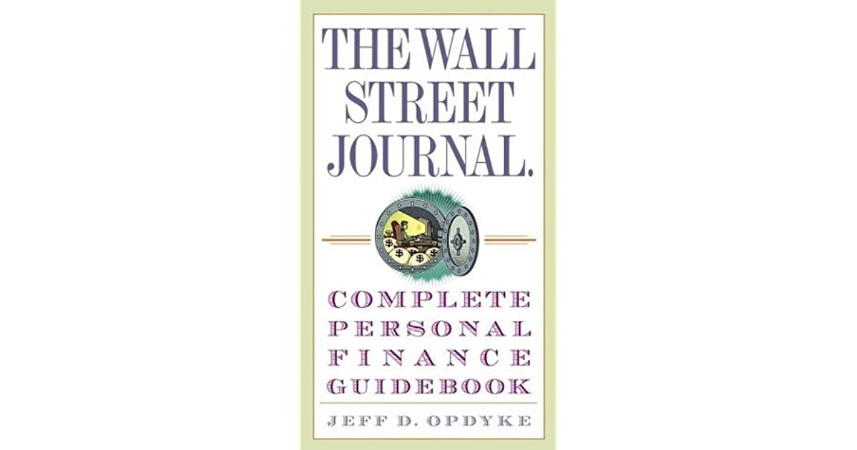the wall street journal complete personal finance guidebook by jeff