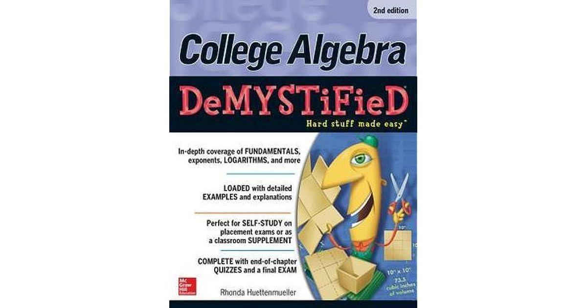 Algebra DeMYSTiFieD (2nd Edition)