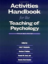 Activities Handbook for the Teaching of Psychology