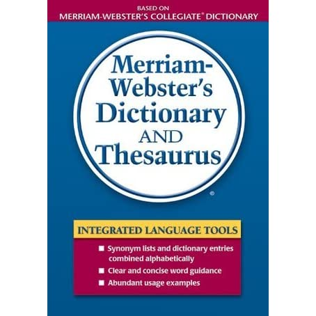 merriam webster s dictionary and thesaurus by anonymous