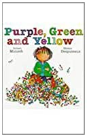 Purple green and yellow book