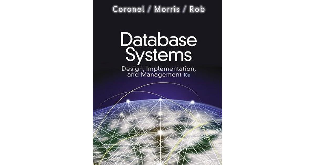 Database System Design Implementation And Management Pdf