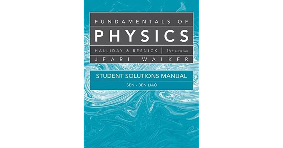 Student Solutions Manual For Fundamentals Of Physics By