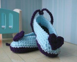 Crochet pattern heart baby booties (40) (Crochet booties)