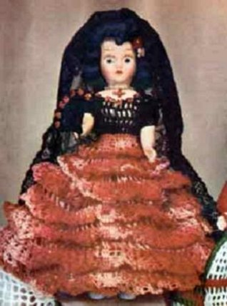 MISS SPAIN DOLL - A Vintage 1951 Crochet Pattern - Kindle eBook download (Spanish Latin Latino Mexican)