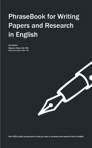 phrase book for writing papers and research work in English