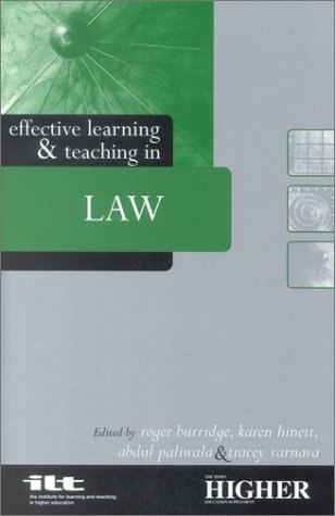 Effective Learning and Teaching in Law (Effective Learning and Teaching in Higher Education)
