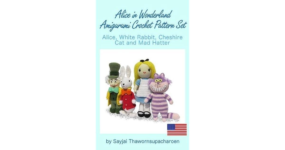 Alice in Wonderland Amigurumi Crochet Pattern eBook by Sayjai ... | 630x1200