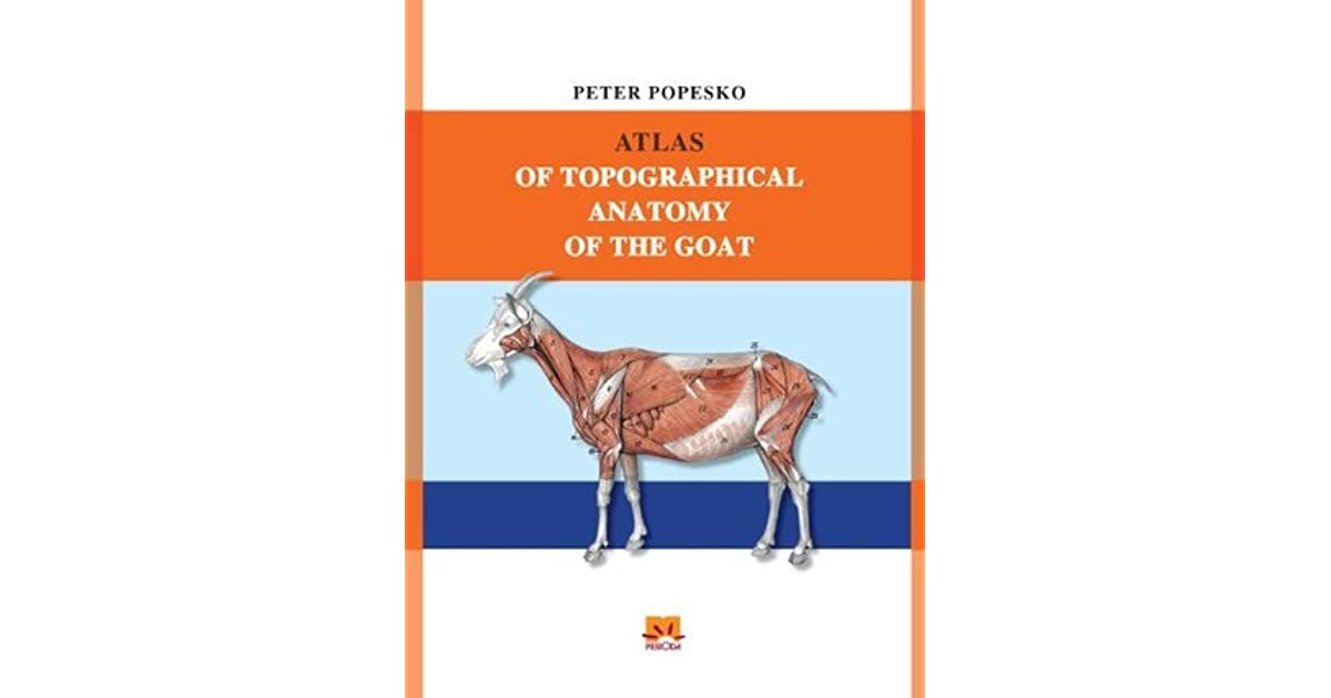 ATLAS OF TOPOGRAPHICAL ANATOMY OF THE GOAT by Peter Popesko