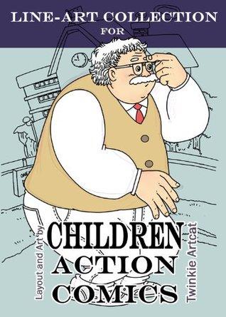 Line-Art Collection for Children Action Comics
