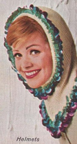The Helmet with Warmth and Glamour Vintage Knit Knitting Pattern EBook Download