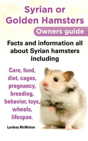 Syrian or Golden Hamsters Owners guide Facts and information all about Syrian hamsters including care, food, diet, cages, pregnancy, breeding, behavior, toys, wheels, lifespan.