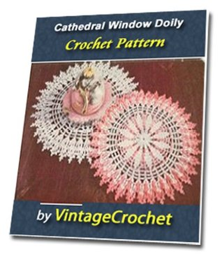 Cathedral Window Doily Vintage Crochet Pattern eBook