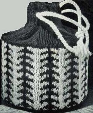 KNITTED DRAWSTRING BUCKET PURSE PATTERN: Vintage Bag No. 2802 - Instant Download to KINDLE Wireless Ebook Reader or Kindle for PC (knitting, knit, bag, ... crafts, needlework, needlecraft, e-book)
