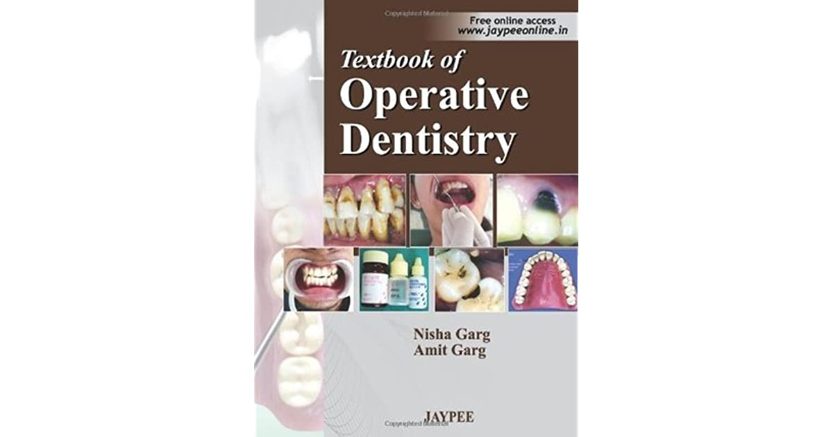 Textbook Of Operative Dentistry Nisha Garg Ebook Download