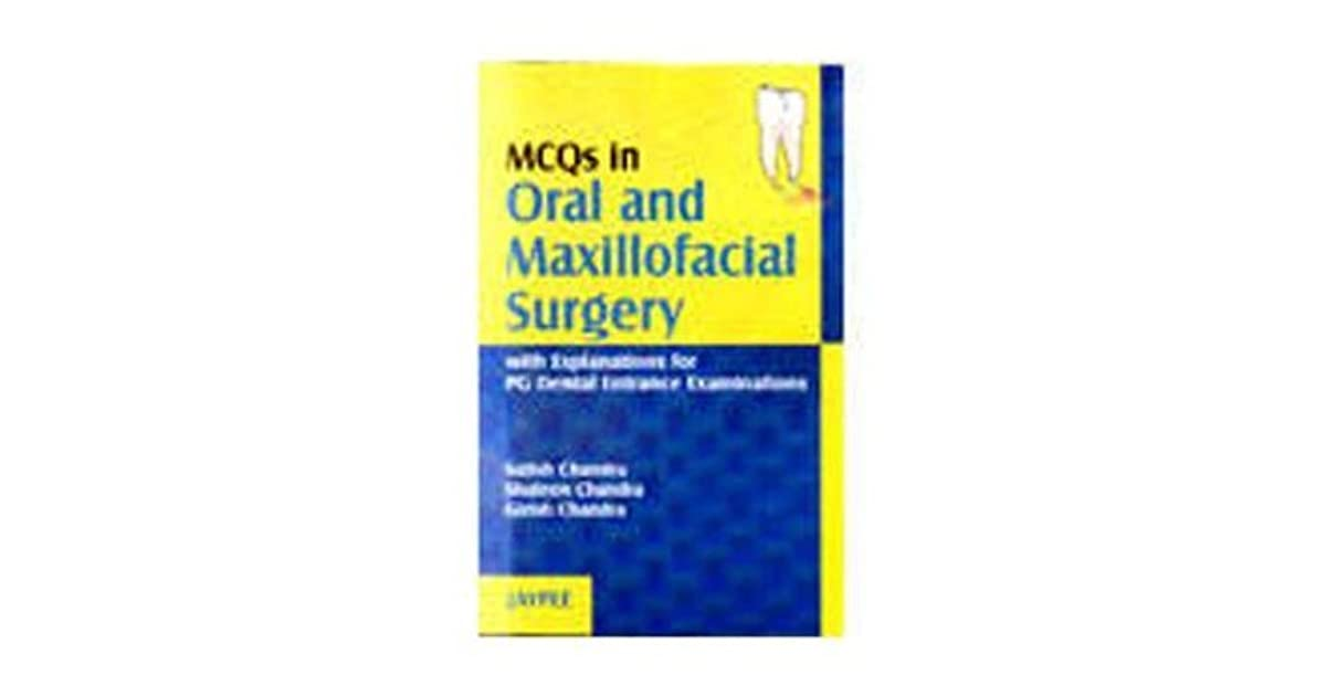 Mcqs In Oral And Maxillofacial Surgery Pdf