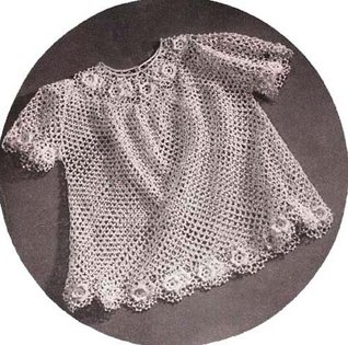 IRISH CROCHET BABY DRESS PATTERN Toddler Sizes 1 and 2