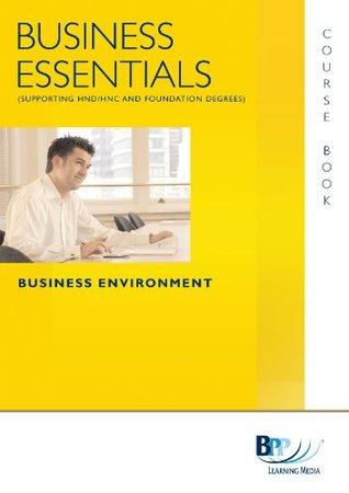 Business Essentials - Business Environment: Study Text
