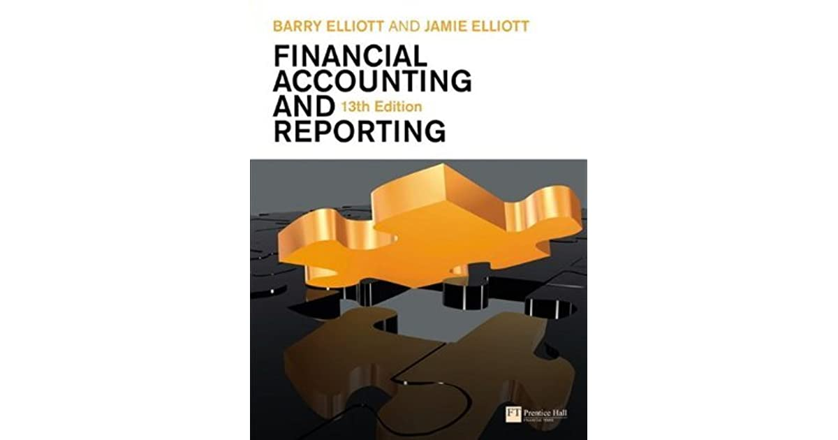 Financial accounting and reporting by barry elliott fandeluxe Image collections