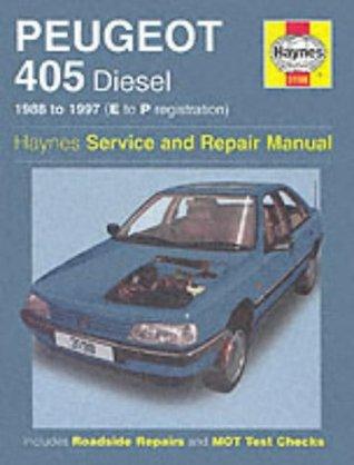 Peugeot 405 Diesel Service And Repair Manual By Steve Rendle