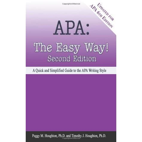 apa the easy way a quick and simplified guide to the apa writing