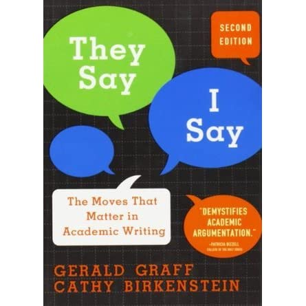 the moves that matter in academic writing They say / i say shows that writing well means mastering some key rhetorical moves, the most important of which involves summarizing what others have said (they say) to set up one's own argument (i say) in addition to explaining the basic moves, this book provides writing templates that show.