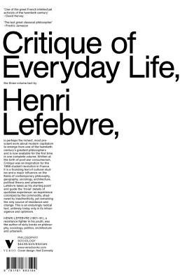 Critique of Everyday Life by Henri Lefebvre