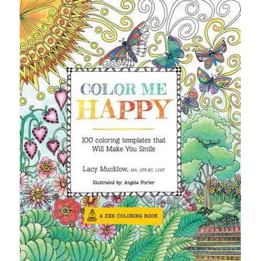 color me happy 100 coloring templates that will make you smile by lacy mucklow - Color Me Books