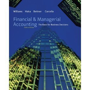 Managerial Accounting, 16th Edition