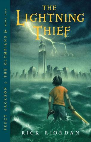 The Lightning Thief cover (link to Goodreads)