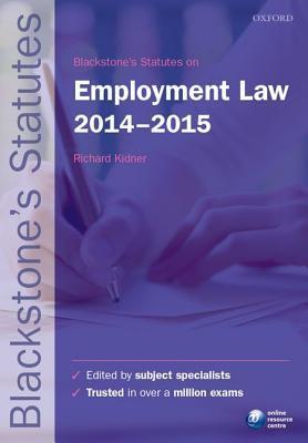 Blackstone's Statutes on Employment Law
