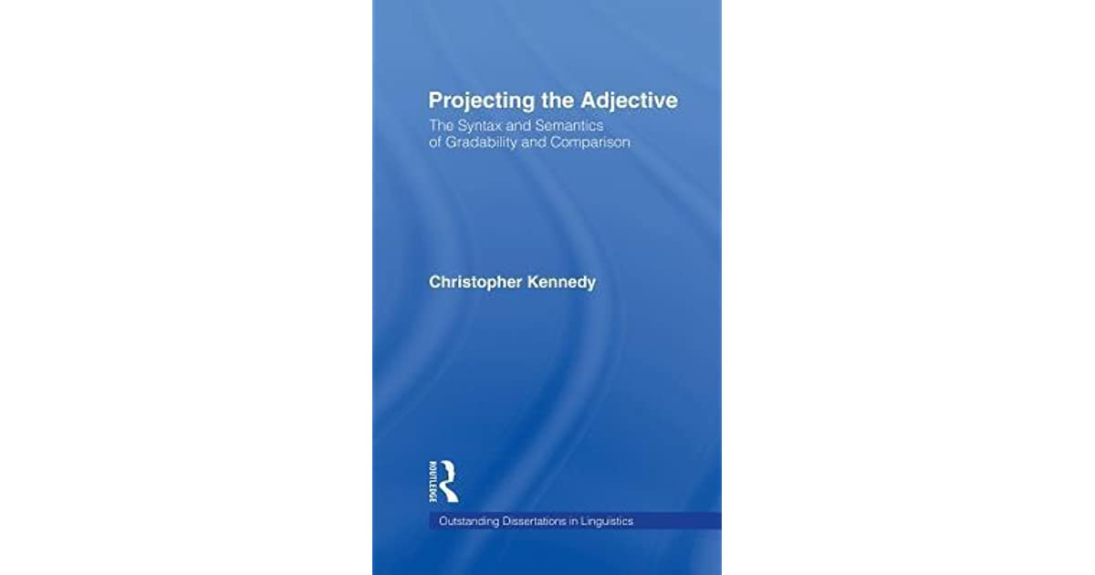 projecting the adjective kennedy christopher