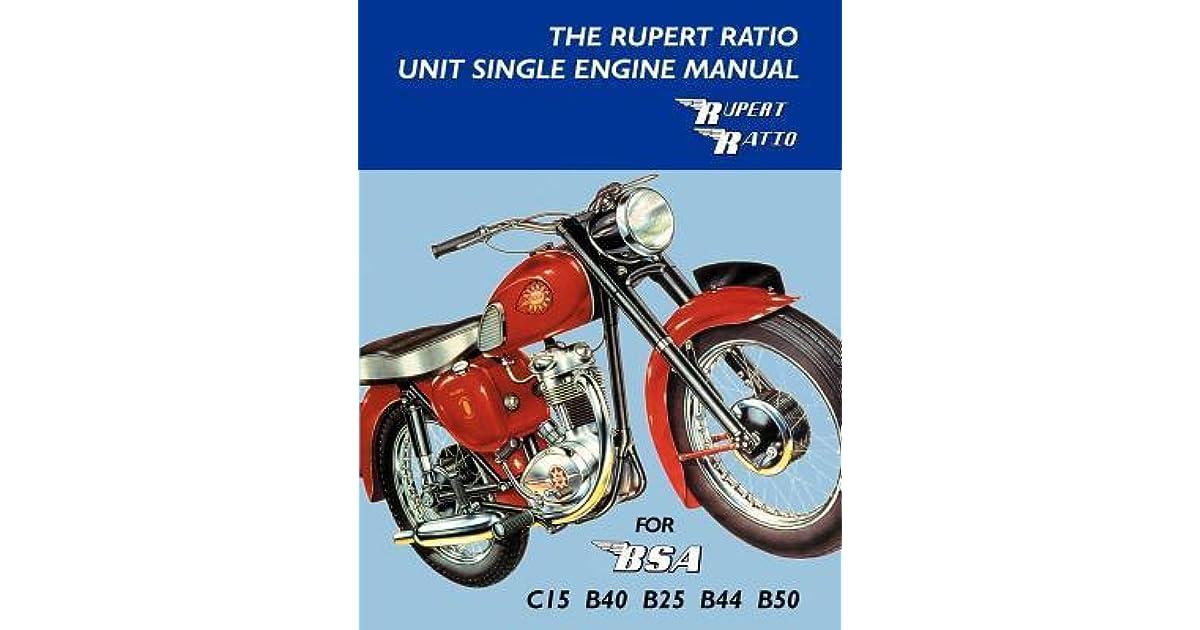 the rupert ratio unit single engine manual for bsa c15. Black Bedroom Furniture Sets. Home Design Ideas