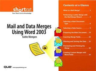 Mail and Data Merges Using Word 2003
