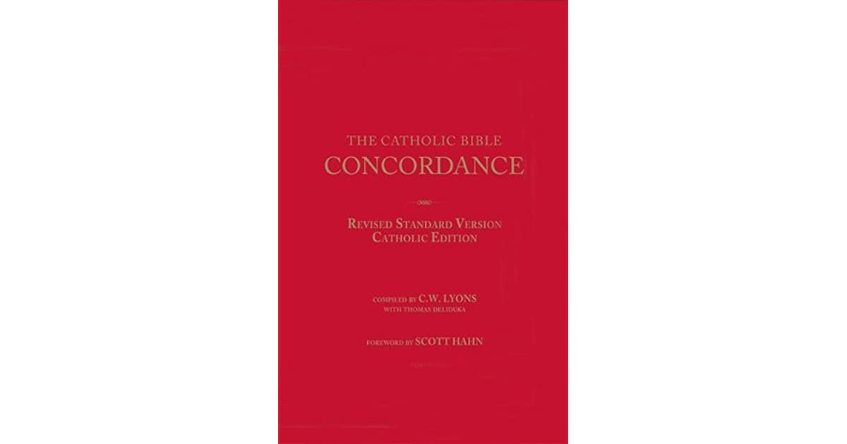 The Catholic Bible Concordance for the Revised Standard