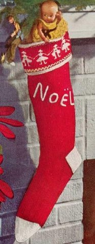 KNITTED CHRISTMAS STOCKING - Vintage 1951 Knitting Pattern - Kindle Ebook Download (X-mas, Santa, presents, gifts, fireplace, chimney, e-book, knit, yarn, craft, winter, holiday)