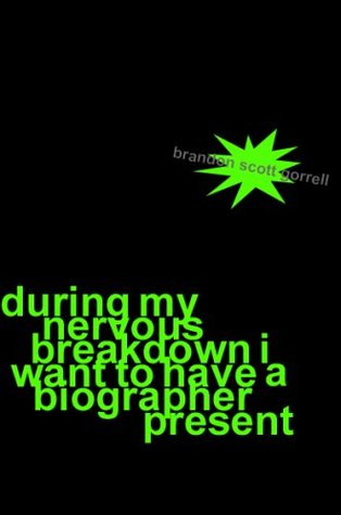 During My Nervous Breakdown I Want to Have a Biographer Present